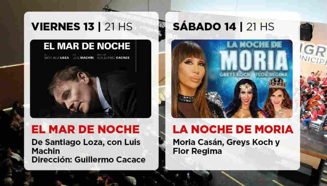Moria Casán y Luis Machin llegan al Teatro Municipal de Benavidez
