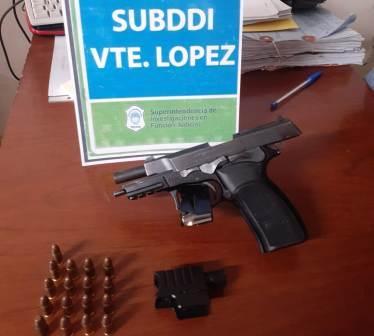 Vicente López: robaba con un arma con mira láser y fue detenido