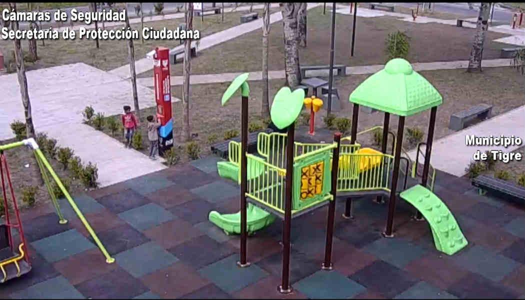 Tigre:Niños llamaron al COT desde un tótem de seguridad y alertaron que un hombre ebrio los amenazaba en la plaza