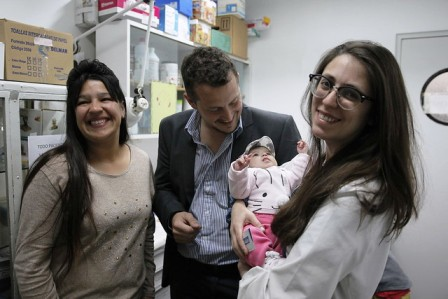Inédita cirugía de alta complejidad en un recién nacido en San Isidro