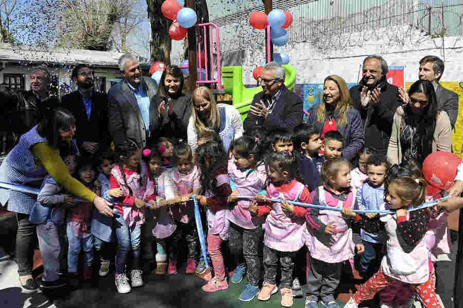 El Municipio de Tigre ya remodeló el patio de 15 jardines de infantes del distrito