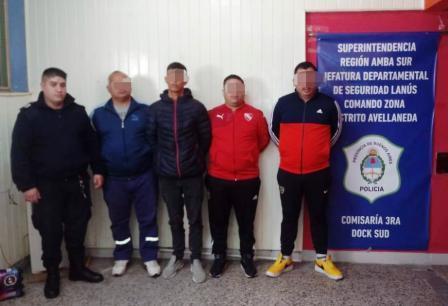 Detuvieron a barras de San Telmo que asaltaron a personal de su propio club