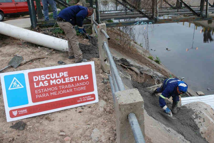 Tigre realiza nuevos trabajos hidráulicos en Don Torcuato