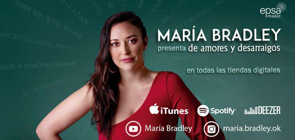 """La cantante y compositora María Bradley lanzó su segundo disco """"De Amores y Desarraigos""""."""