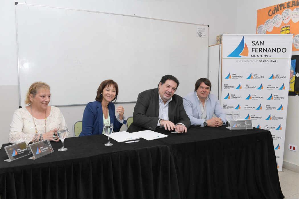 San Fernando firmó un convenio para la implementación de un programa de gestión de escuelas