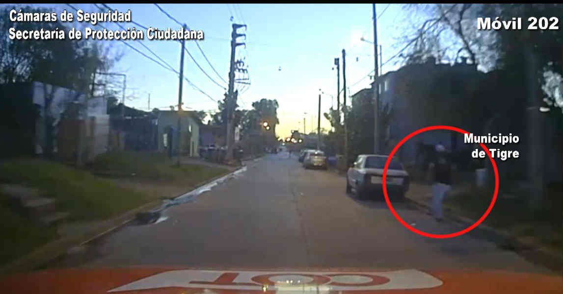 Tigre: Golpeó brutalmente a una mujer en la vía pública, intentó fugarse pero fue atrapado