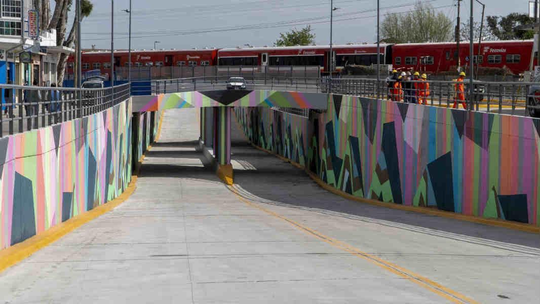 Posse inauguró el túnel de la avenida sarratea en Boulogne