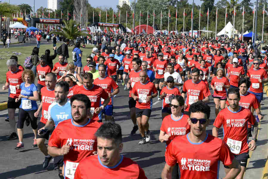La 36 edición de la Maratón Ciudad de Tigre unió a la familia y el deporte