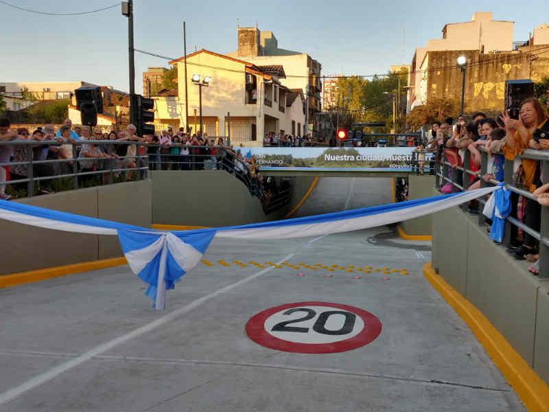 Andreotti inauguró en San Fernando el 5to túnel construido con fondos municipales