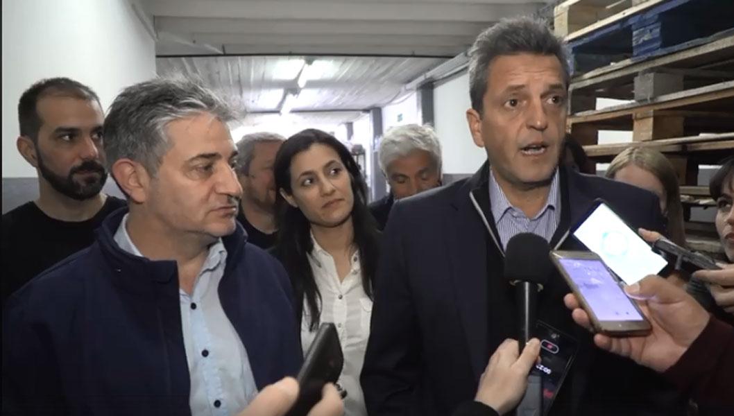 Sergio Massa recorrió Vicente López junto al candidato local Lorenzo Beccaria
