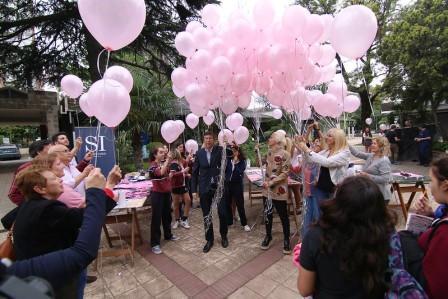 Caminata en San Isidro para concientizar sobre el cáncer de mama