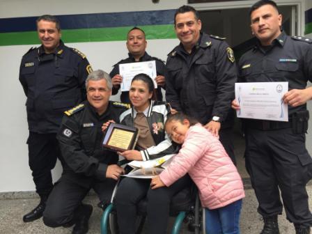 El casino de oficiales de la comisaría de San Justo fue reinaugurado con el nombre de Alejandra Rocío Villarreal