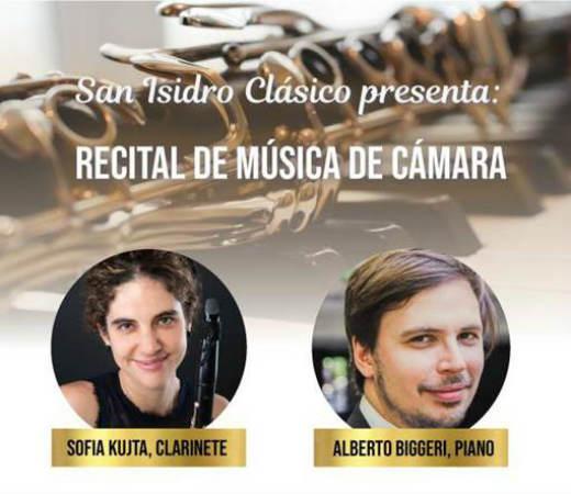 La clarinetista Sofía Kujta y el pianista Alberto Biggeri, destacados músicos con amplia trayectoria, presentarán un concierto de música de cámara con un variado repertorio que incluirá obras de grandes compositores.