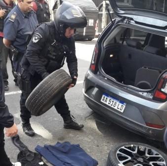 Caen robarruedas tras persecución en Vicente López