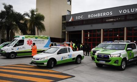 San Fernando envió una flota de vehículos para asistir a La Matanza tras el fuerte temporal ()