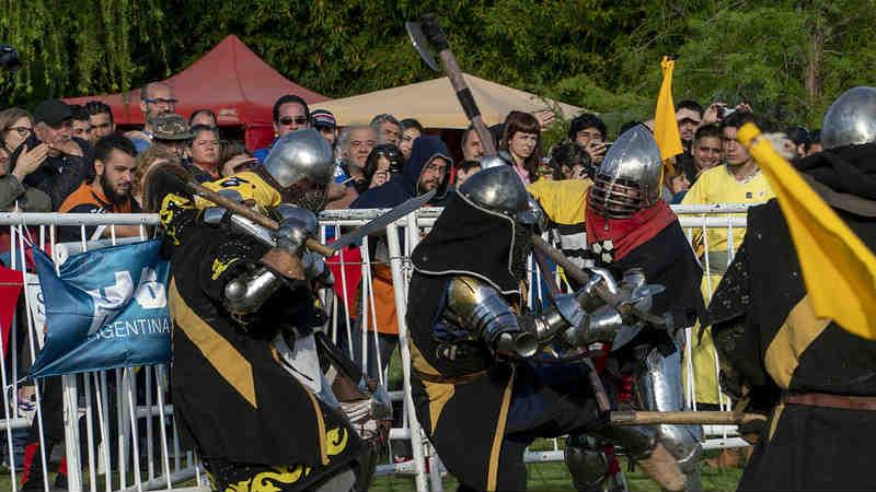 San Isidro fue sede de un nuevo torneo internacional de combate medieval