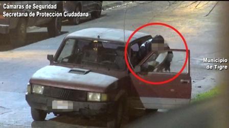 Robó pertenencias de un auto en Pacheco y se fue a su casa pero fue detenido