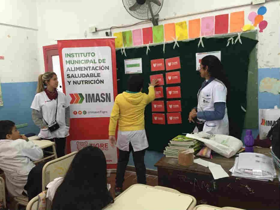Tigre brindó charlas sobre alimentación saludable a 13.000 alumnos del distrito