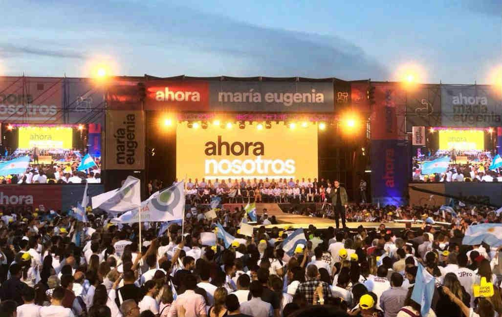 Multitudinario cierre de Campaña de Jorge Macri y María Eugenia Vidal en Vicente López