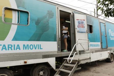 Unidad Sanitaria Móvil en Lagomarsino, Villa Rosa y Manzone