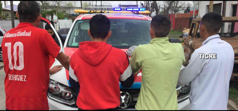 Cayeron en Tigre ladrones con un depósito de autopartes robadas