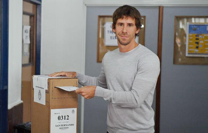 Luis y Juan Andreoti votaron en San Fernando