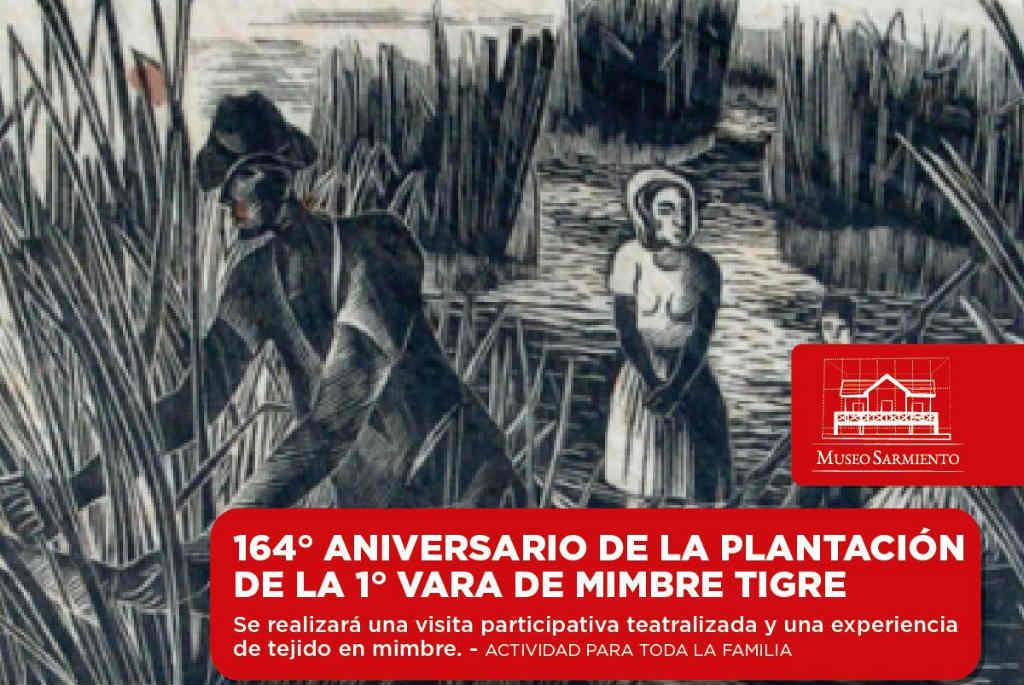 El Museo Casa Sarmiento celebra el 164° aniversario de la plantación de la primera vara de mimbre en Tigre