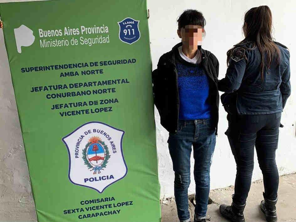 Cayó en Vicente López una narco pareja de motochorros que asolaban Zona Norte
