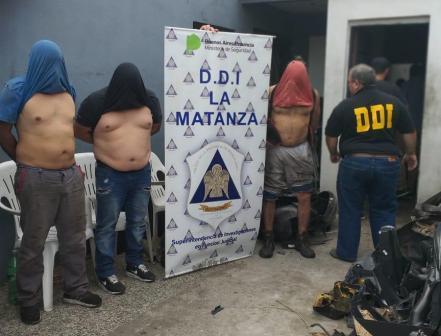 Desarticulan banda dedicada al robo y venta ilegal de autopartes en La Tablada