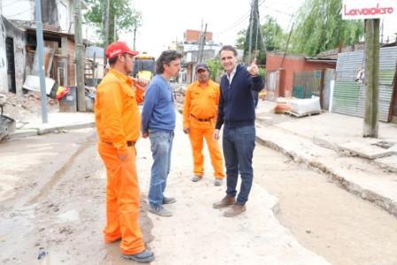 Nuevas obras hidráulicas en diferentes barrios de San Martín
