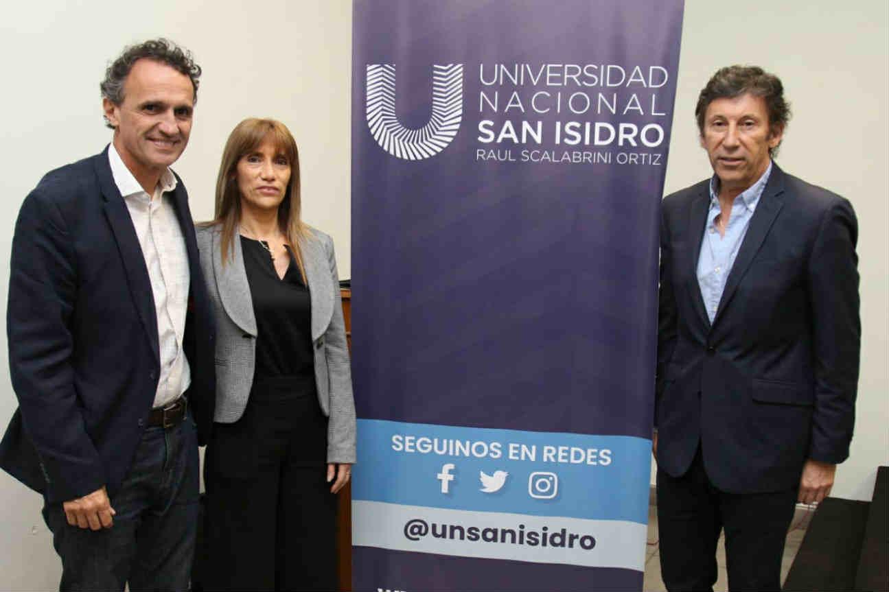 Posse y Katopodis expusieron en la Universidad Nacional de San Isidro