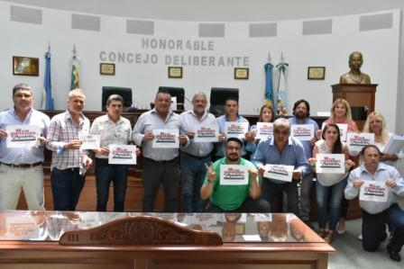 El Concejo Deliberante de Malvinas Argentinas junto a trabajadoras y trabajadores de Mondelez