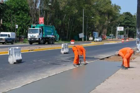 Avanza la obra de ensanche de la Ruta 8 en Pilar