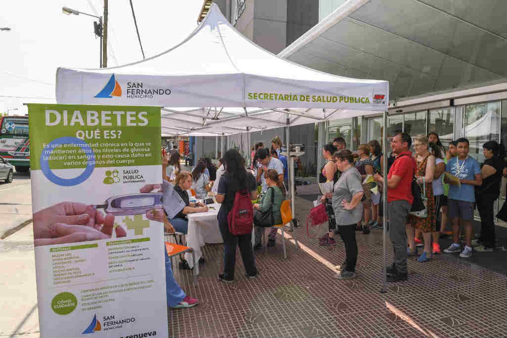San Fernando realizó una jornada de concientización por el Día Mundial de la Diabetes