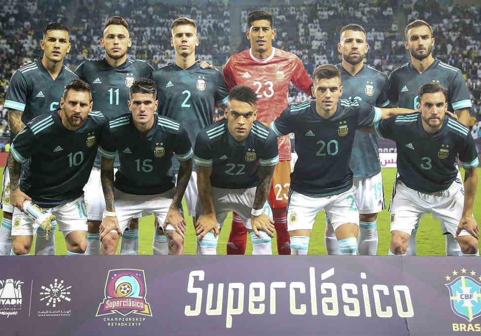 Argentina le ganó el superclásico sudamericano a Brasil en Arabia