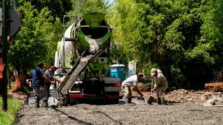 San Isidro avanza con nuevos pavimentos en el Bajo