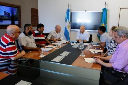 Ducoté se reunió con los gremios municipales