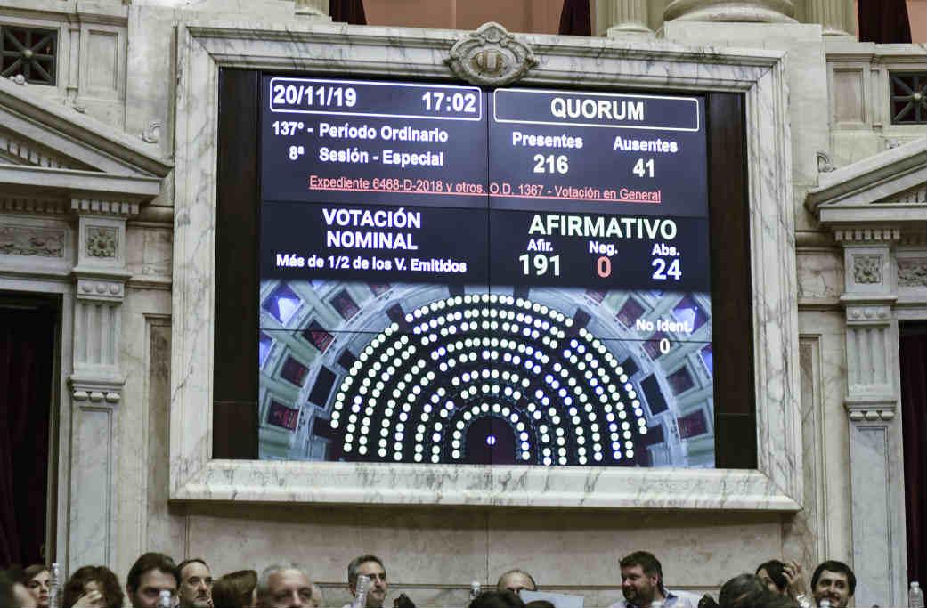 Inquilinos festejaron la  media sanción de la Ley de Alquileres y exigieron que el Senado la vote la semana próxima