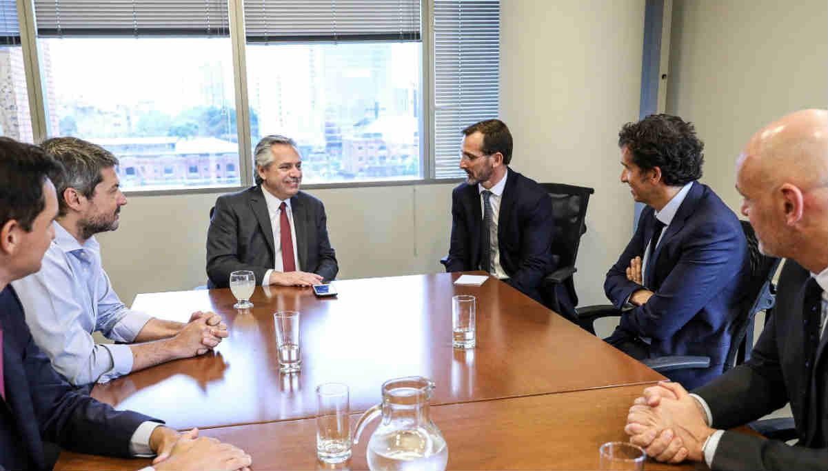Alberto Fernández recibió al CEO global del grupo Carrefour