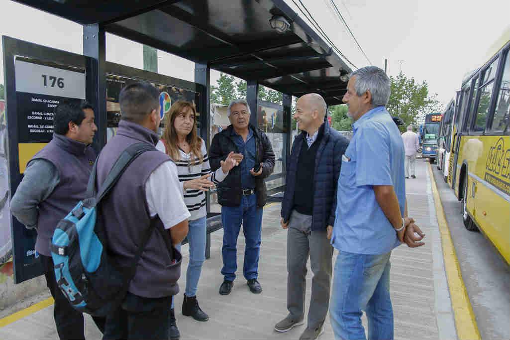 Ducoté recorrió los trabajos de reordenamiento urbano de la ruta 26