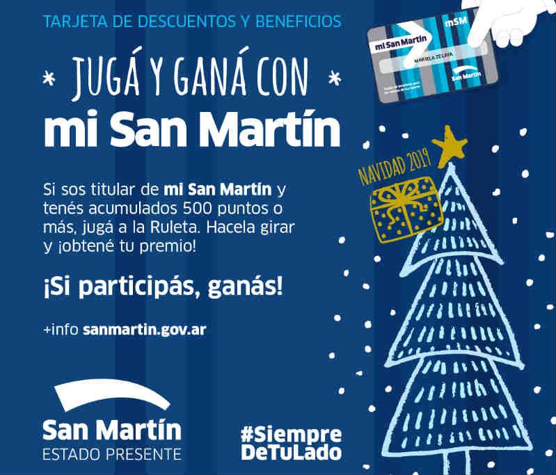 El Municipio lanzó un Juego Navideño con la tarjeta mi San Martín