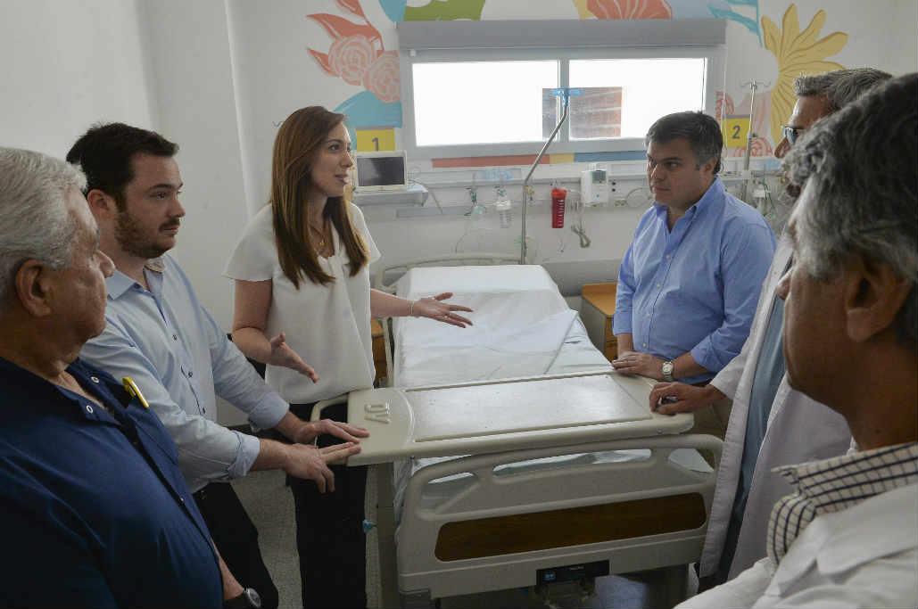 Vidal recorrió la nueva guardia del hospital zonal general Manuel Belgrano en San Martín