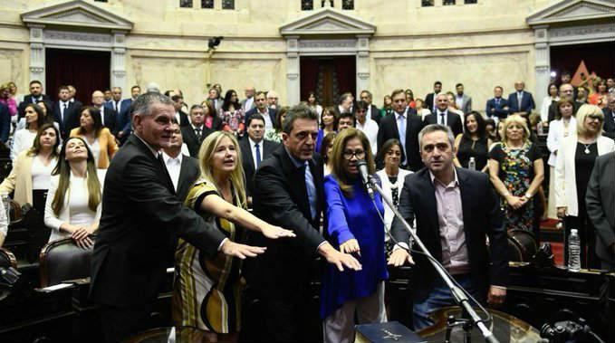 Juraron los nuevos Diputados y designaron oficialmente a Sergio Massa como nuevo Presidente de la Cámara