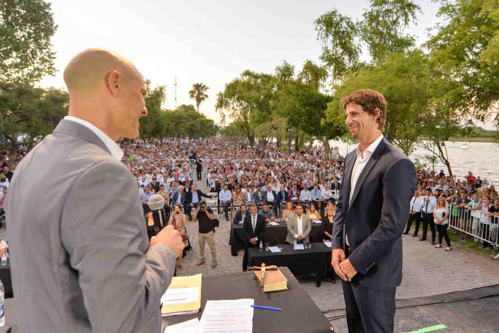 Juan Andreotti juró como intendente de San Fernando en la inauguración de la nueva Costanera Municipal