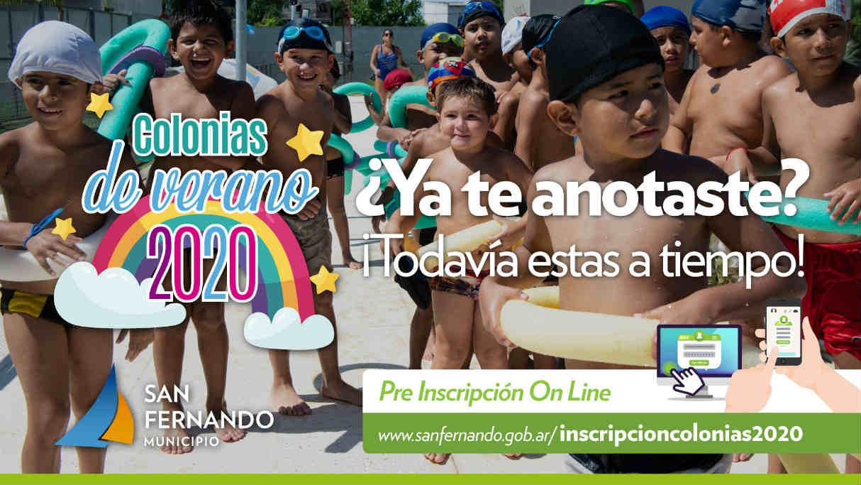 San Fernando continúa con la inscripción para las Colonias de Verano 2020