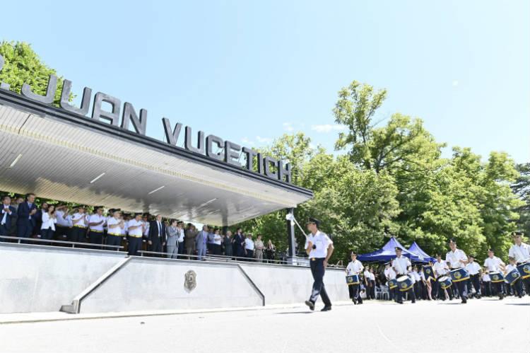Sergio Berni encabezó el acto por el 139 aniversario de la Policía de la provincia de Buenos Aires