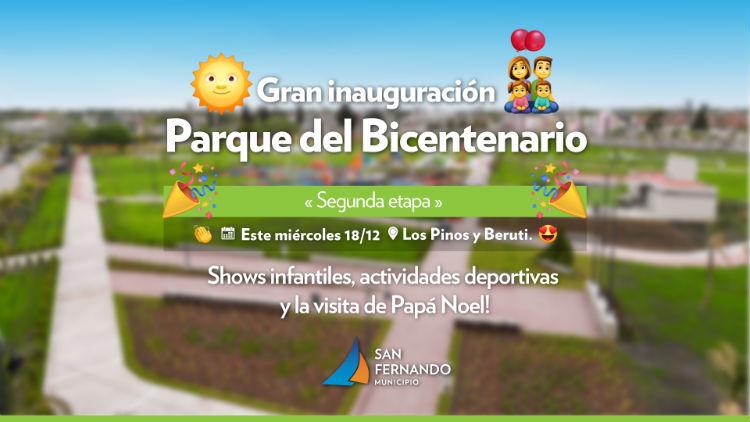 San Fernando inaugura la ampliación del Parque del Bicentenario