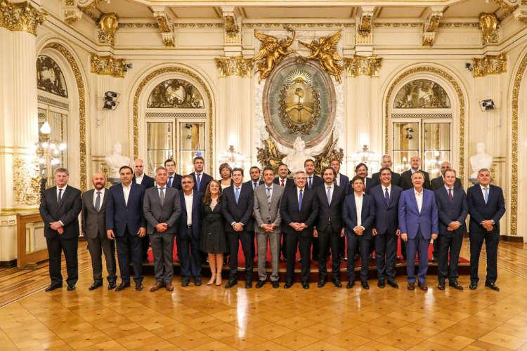 Consenso Fiscal 2019:  Alberto Fernández recibió a los gobernadores y al jefe de Gobierno de la Ciudad de Buenos Aires
