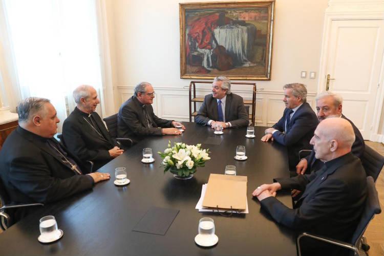 Alberto Fernández recibió  a la Conferencia Episcopal Argentina