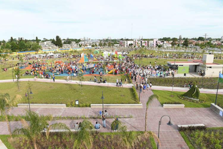 Juan Andreotti inauguró la ampliación del Parque del Bicentenario de San Fernando